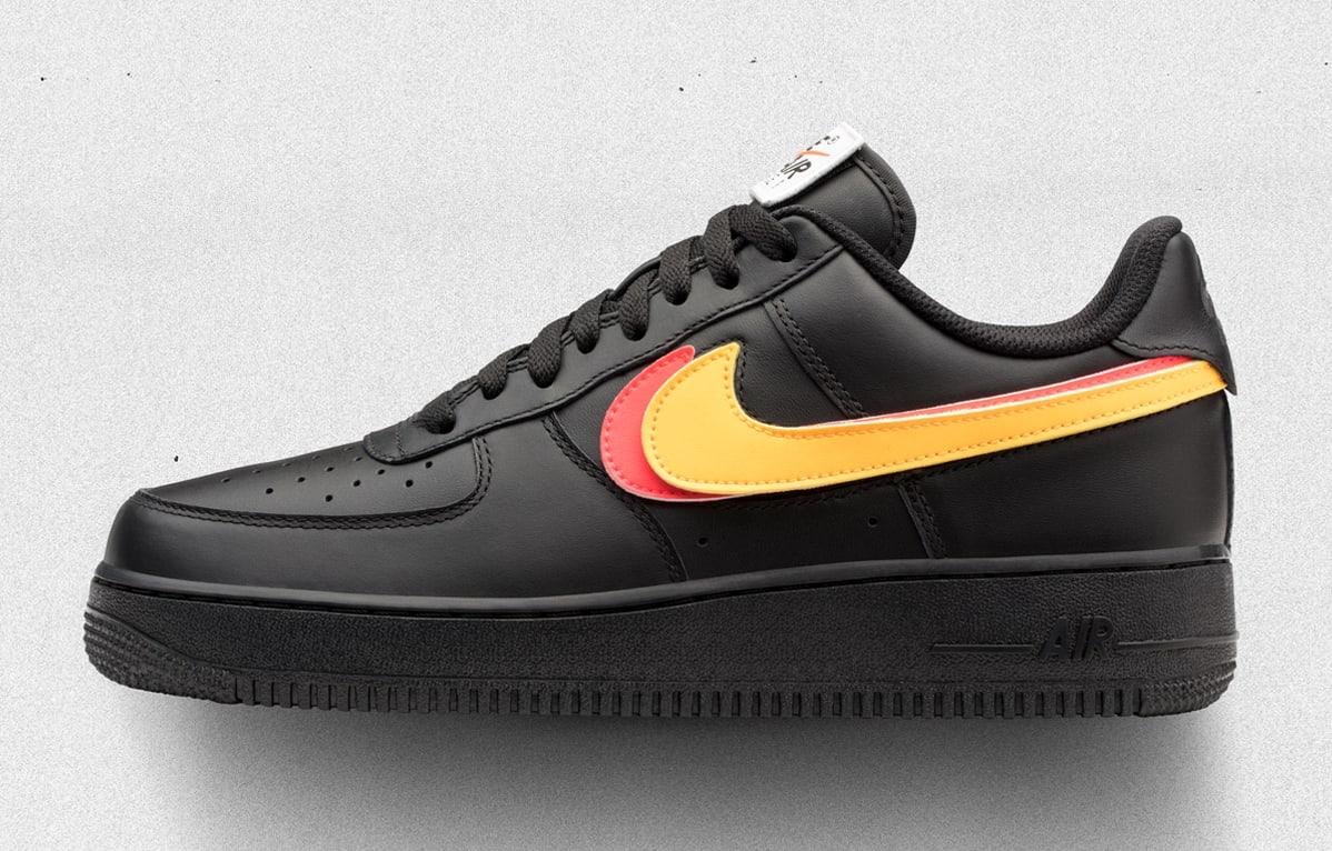 Nike Air Force 1 Low Swoosh Pack Black Release Date AH8462-002