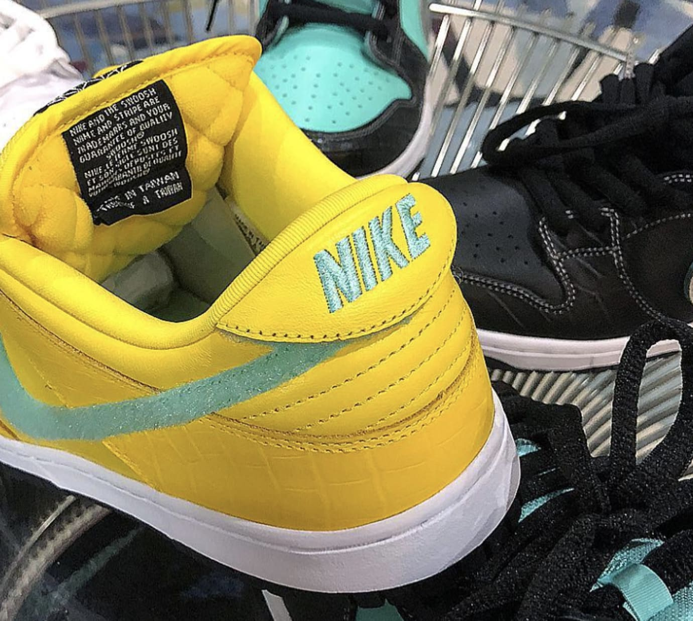 newest 6036d 20460 Image via nickydiamonds · Diamond Supply Co. x Nike SB Dunk Low Canary  Yellow 3