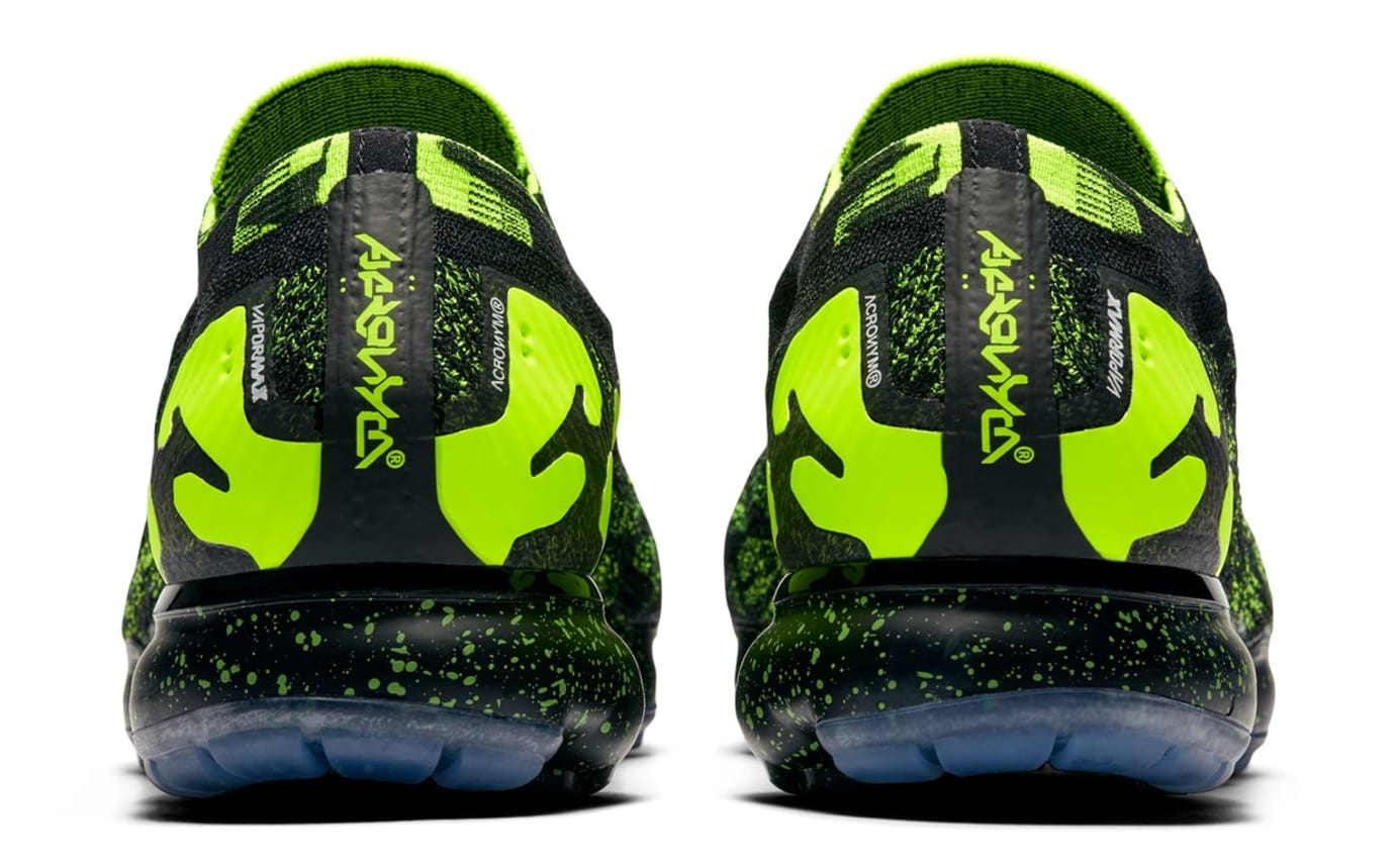 eedc8d97e08 Image via Nike Acronym x Nike Air VaporMax Moc 2  Black Volt Black  AQ0996-