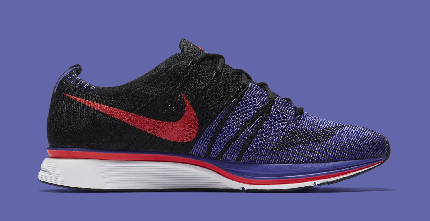 Nike Flyknit Trainer 'Siren Red/Persian Violet' AH8396-003 (Lateral)