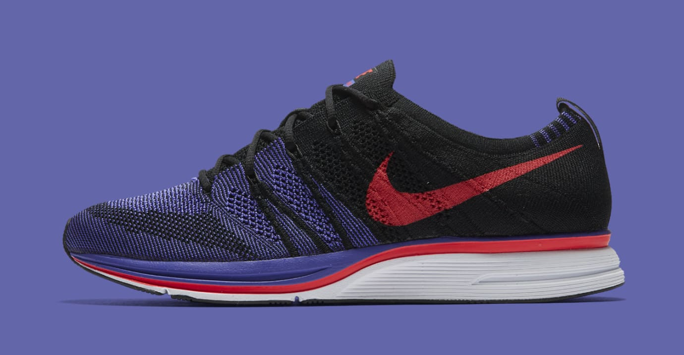 a9222e01f0123 Image via Nike Nike Flyknit Trainer  Siren Red Persian Violet  AH8396-003  (Medial)
