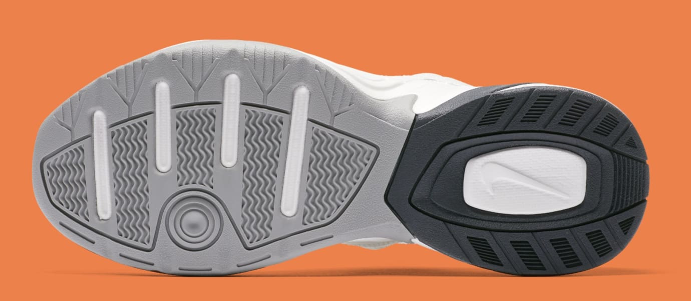 Nike M2K Tekno WMNS 'Phantom/Oil Grey/Matte Silver/Hyper Crimson' AO3108-001 (Sole)