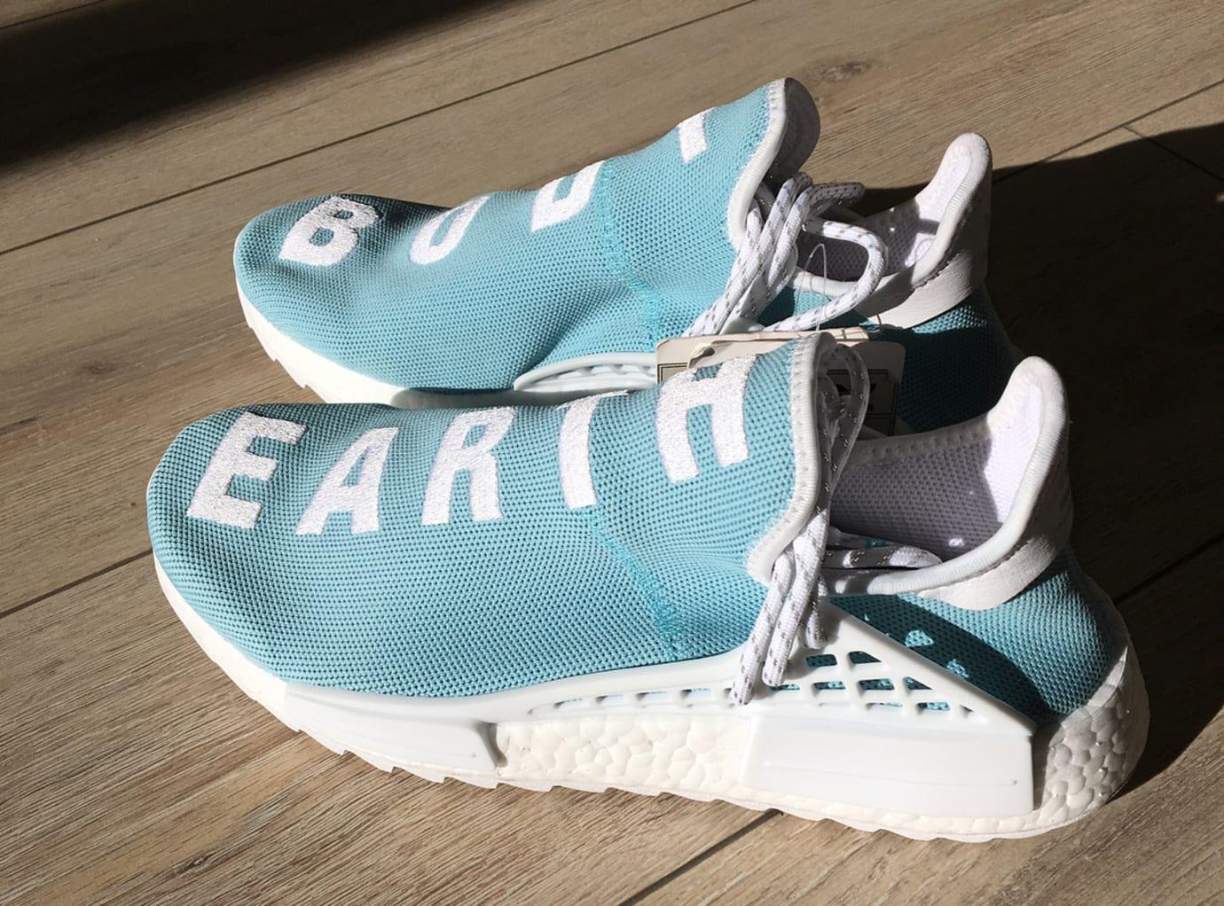 3ba771f25 Pharrell x Adidas NMD Hu Body Earth Blue Sole Side
