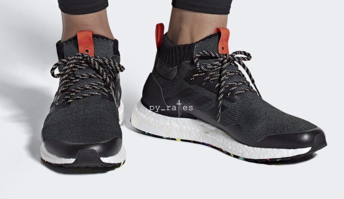Adidas Ultra Boost Mid 'Black/Multicolor' (On Feet)