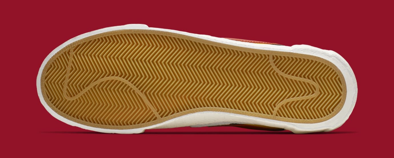 Sacai x Nike Blazer High 'Varsity Maize/Varsity Red/Midnight Navy' BV0072-700 (Bottom)