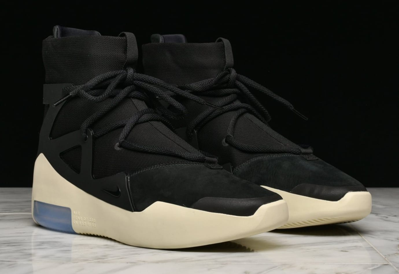 Nike Air Fear of God 1 'Black' (Pair)