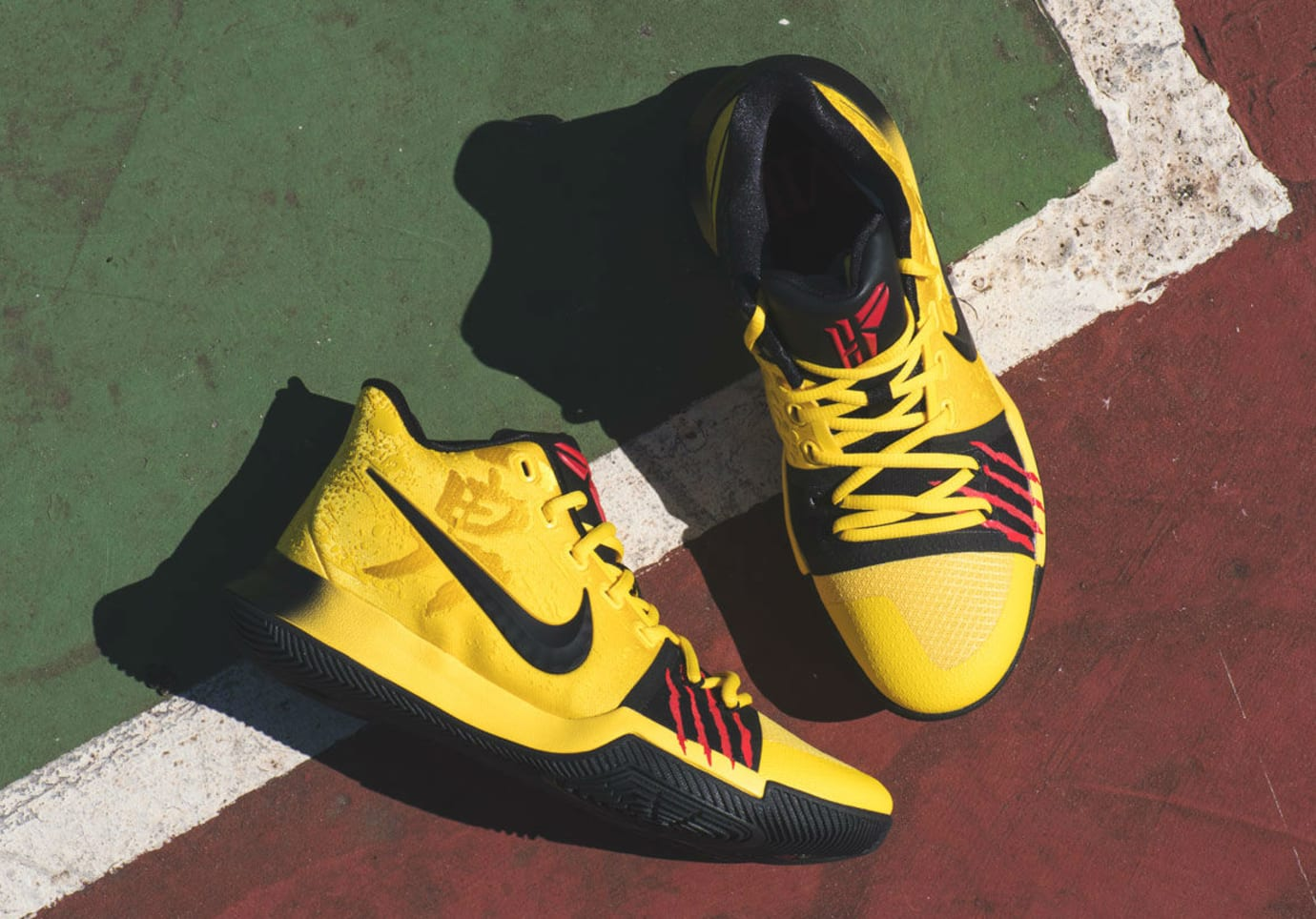 the latest 8cd26 be622 Nike Kyrie 3 Mamba Mentality Bruce Lee Restock AJ1672-700 ...