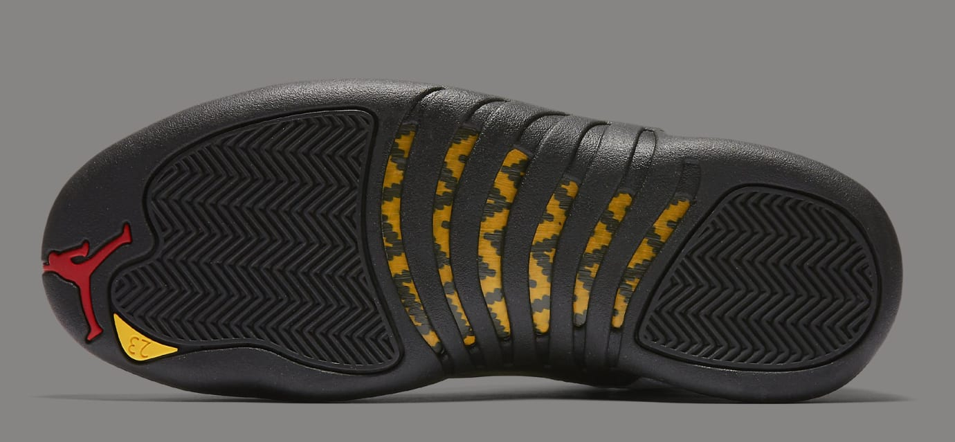 the latest 563b9 ea572 Image via Nike Air Jordan 12  Taxi  130690-125 (Bottom)