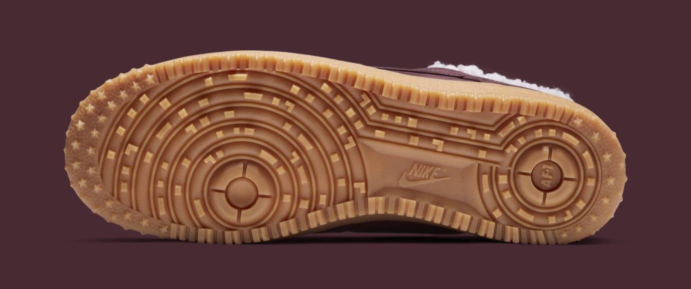 d1c998a82c1e27 Image via Nike Nike Air Force 1 Premium Winter  Burgundy Crush Gum Light  Brown  Av2874-
