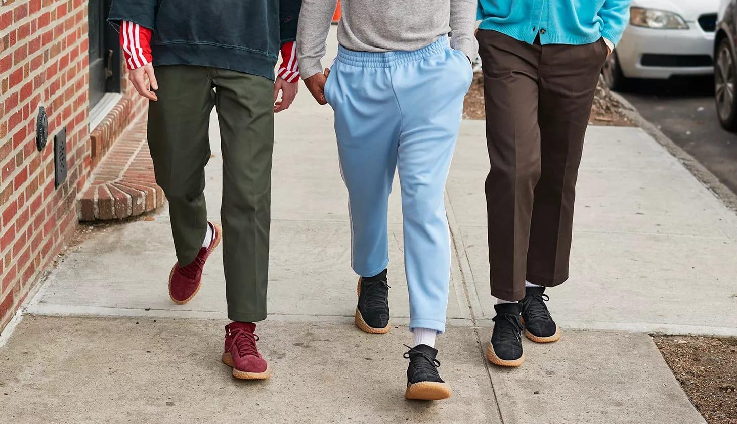 Adidas Kamanda 'Core Black/Gum' and 'Collegiate Burgundy/Gum' (On-Foot)