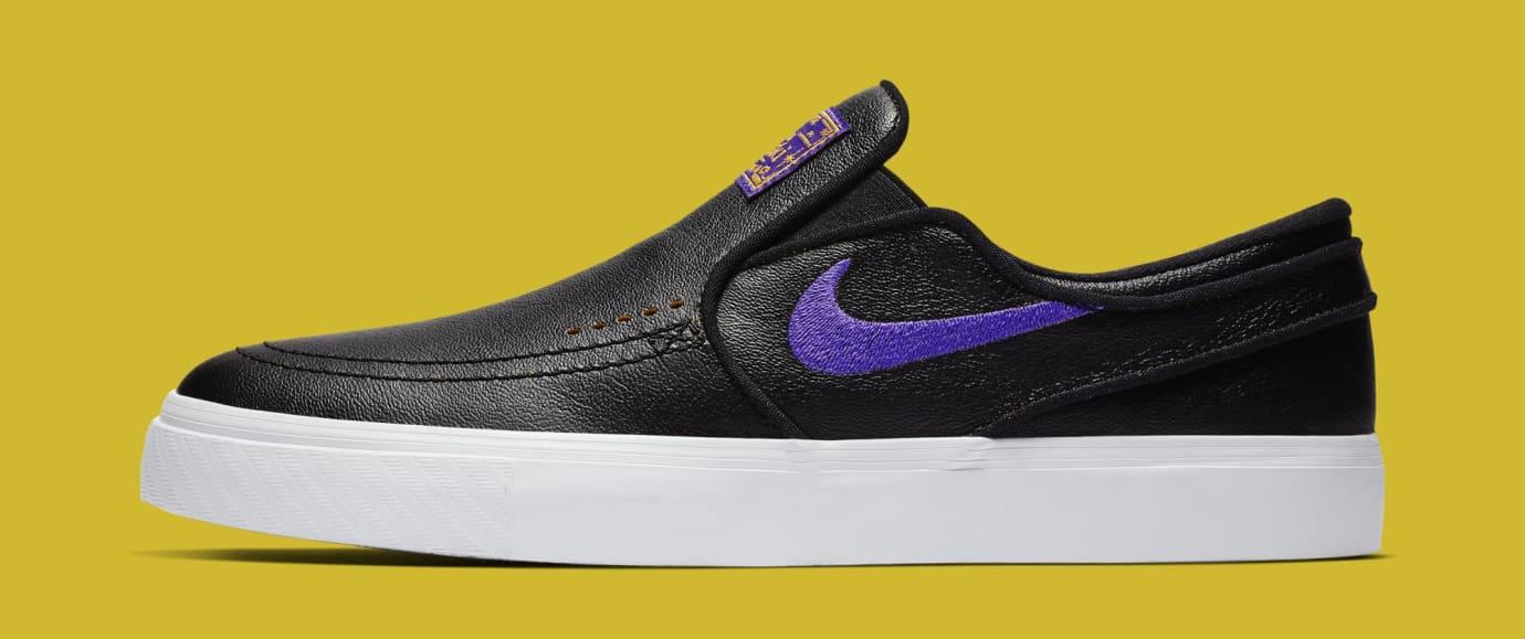 NBA x Nike SB Stefan Janoski Slip 'Lakers' BQ6396-024 (Lateral)