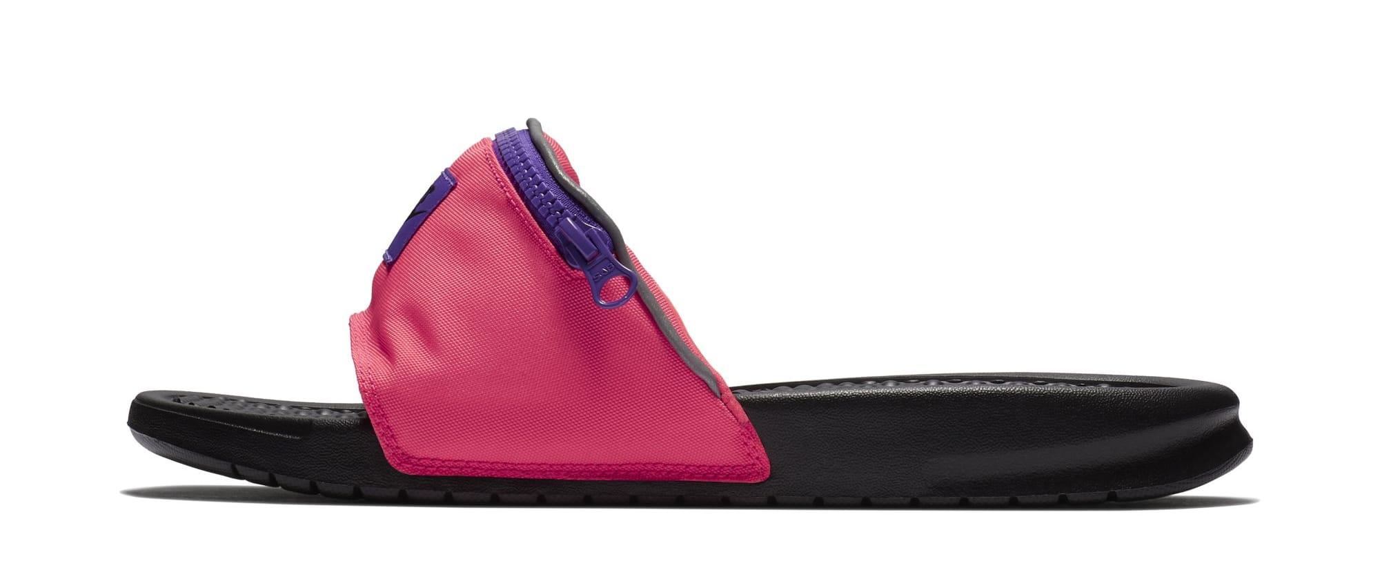 Nike Benassi JDI 'Fanny Pack' Black/Pink (Lateral)