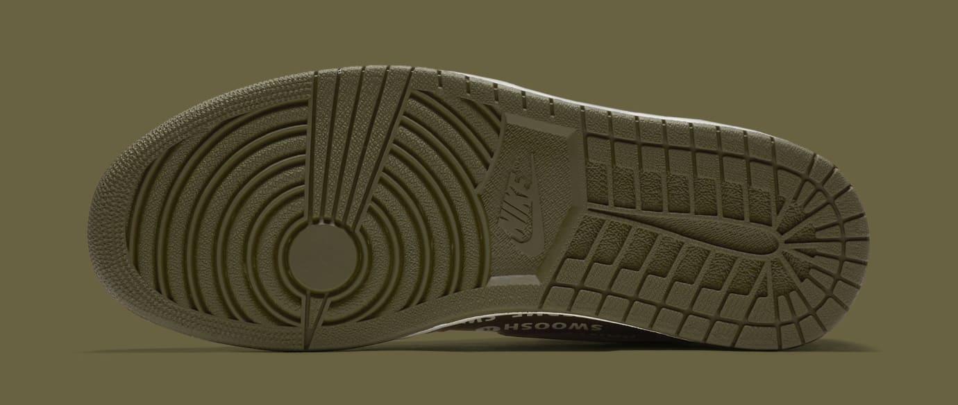 Air Jordan 1 'Nike Air Pack/Olive' 555088-300 (Bottom)