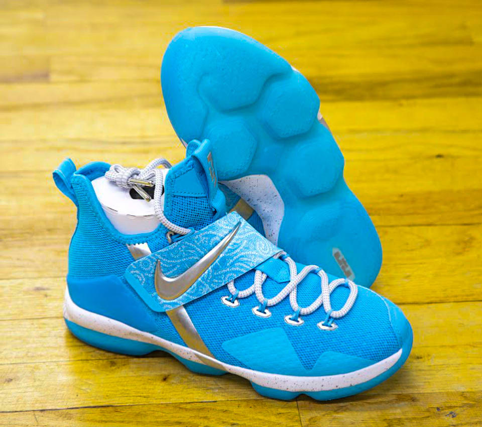 Nike LeBron 14 Blue White Release Date Profile AA3258-404