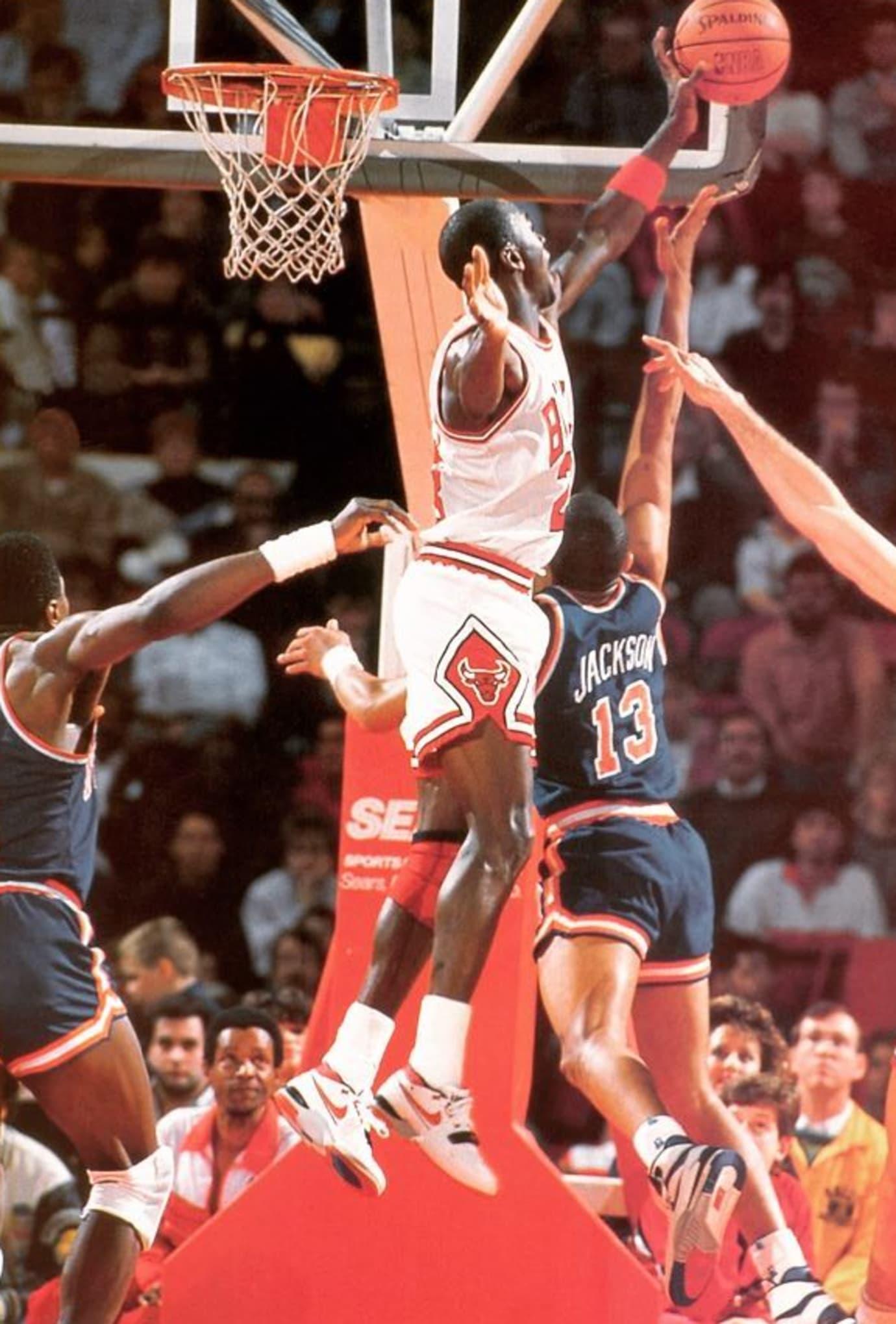 Michael Jordan and Mark Jackson