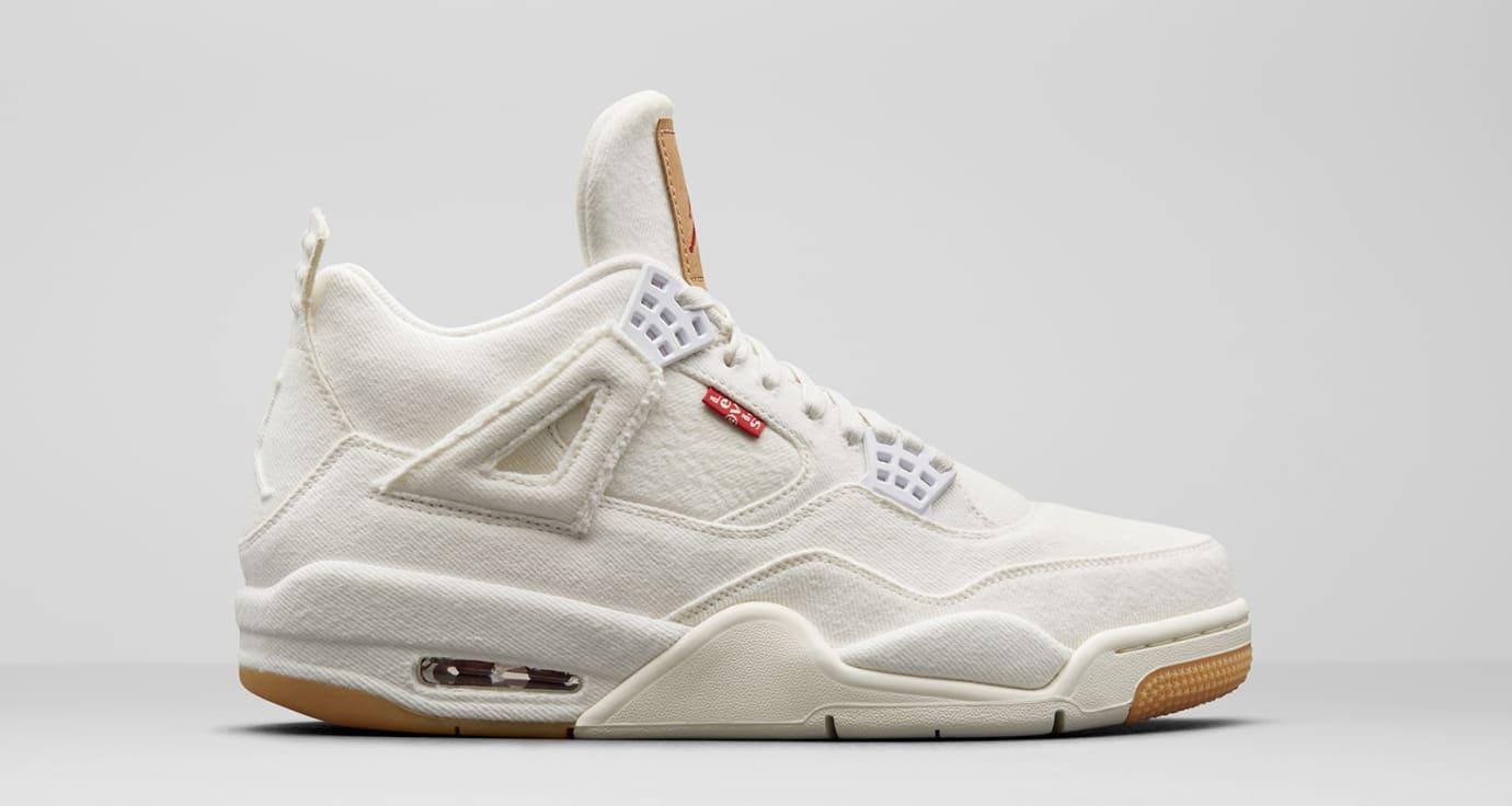 Levi's x Air Jordan 4 'White' AO2571-100 (Lateral)