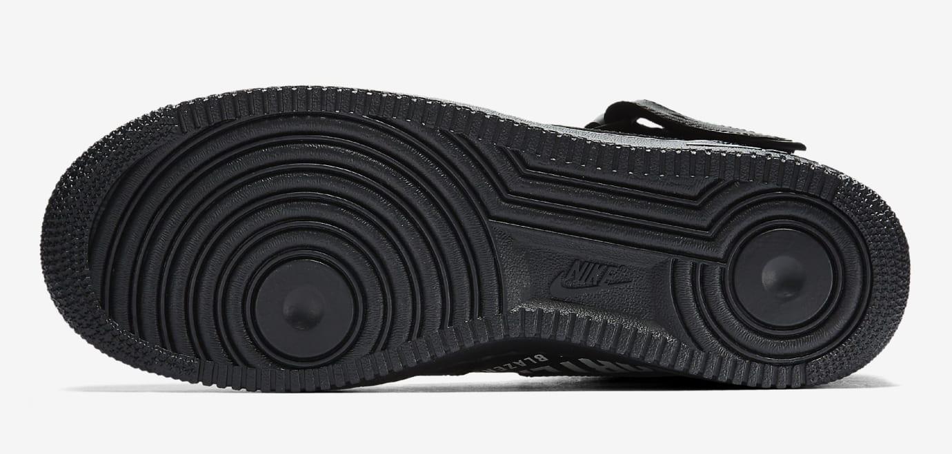 Supreme x Nike Air Force 1 Mid 'Black' AQ8017-001 (Bottom)