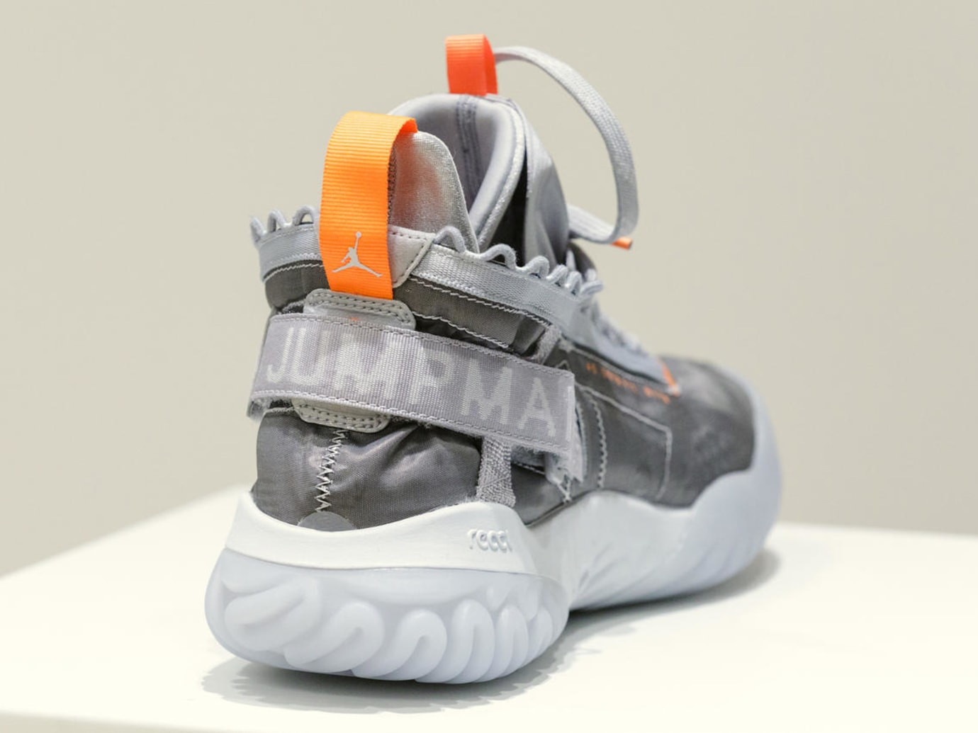 Jordan Proto-React Grey Orange Release Date Heel