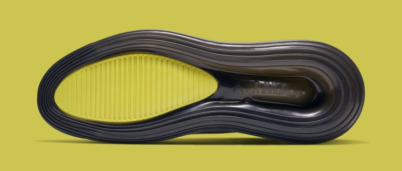 big sale 2e638 cdc45 Image via Nike Nike Air Max 720 Saturn  Black Dynamic Yellow-University Red   BV7786-