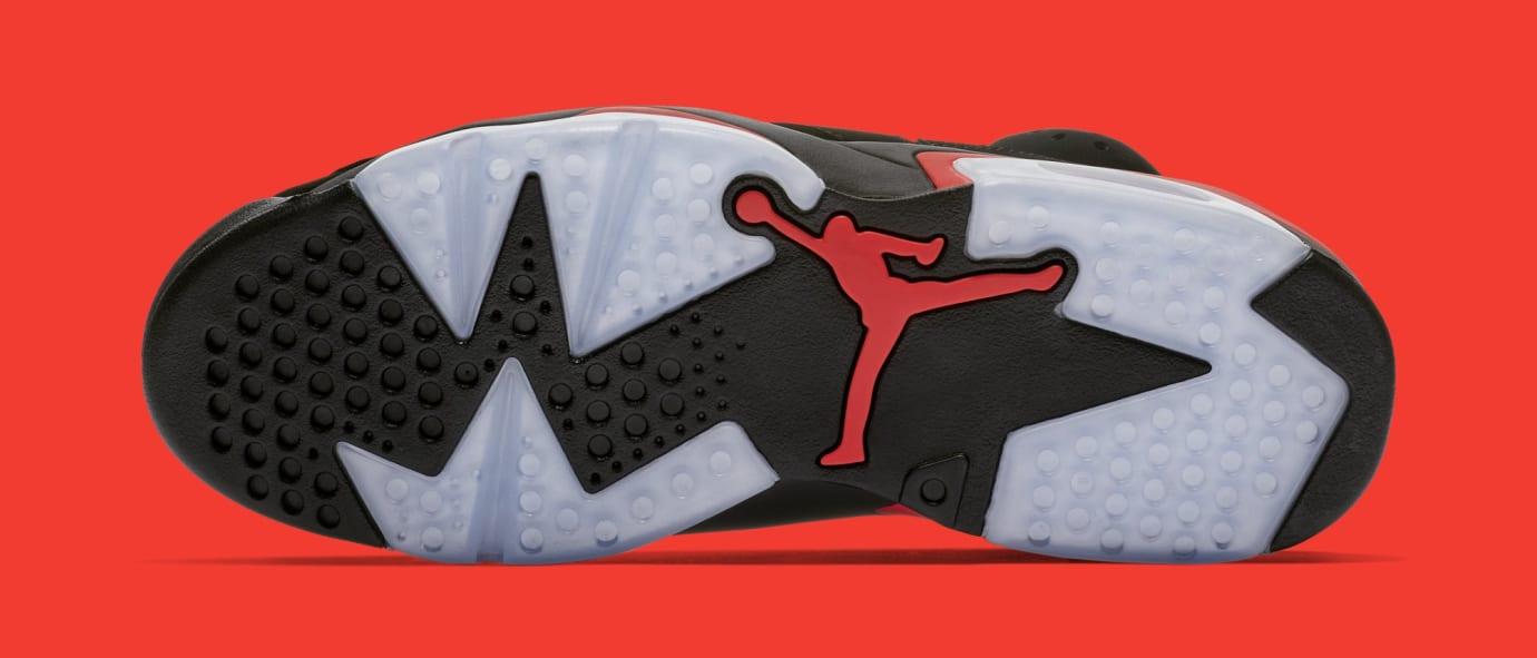 d58d562af13a5e Image via Nike Air Jordan 6  Black Infrared  384664-060 (Bottom)