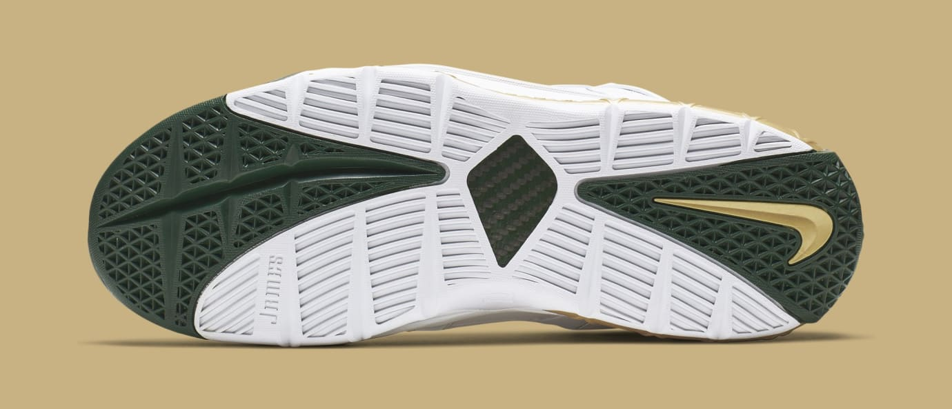 40e95e190431 Nike Zoom LeBron 3 Retro  SVSM Home  White Deep Forest-Gold Dust ...