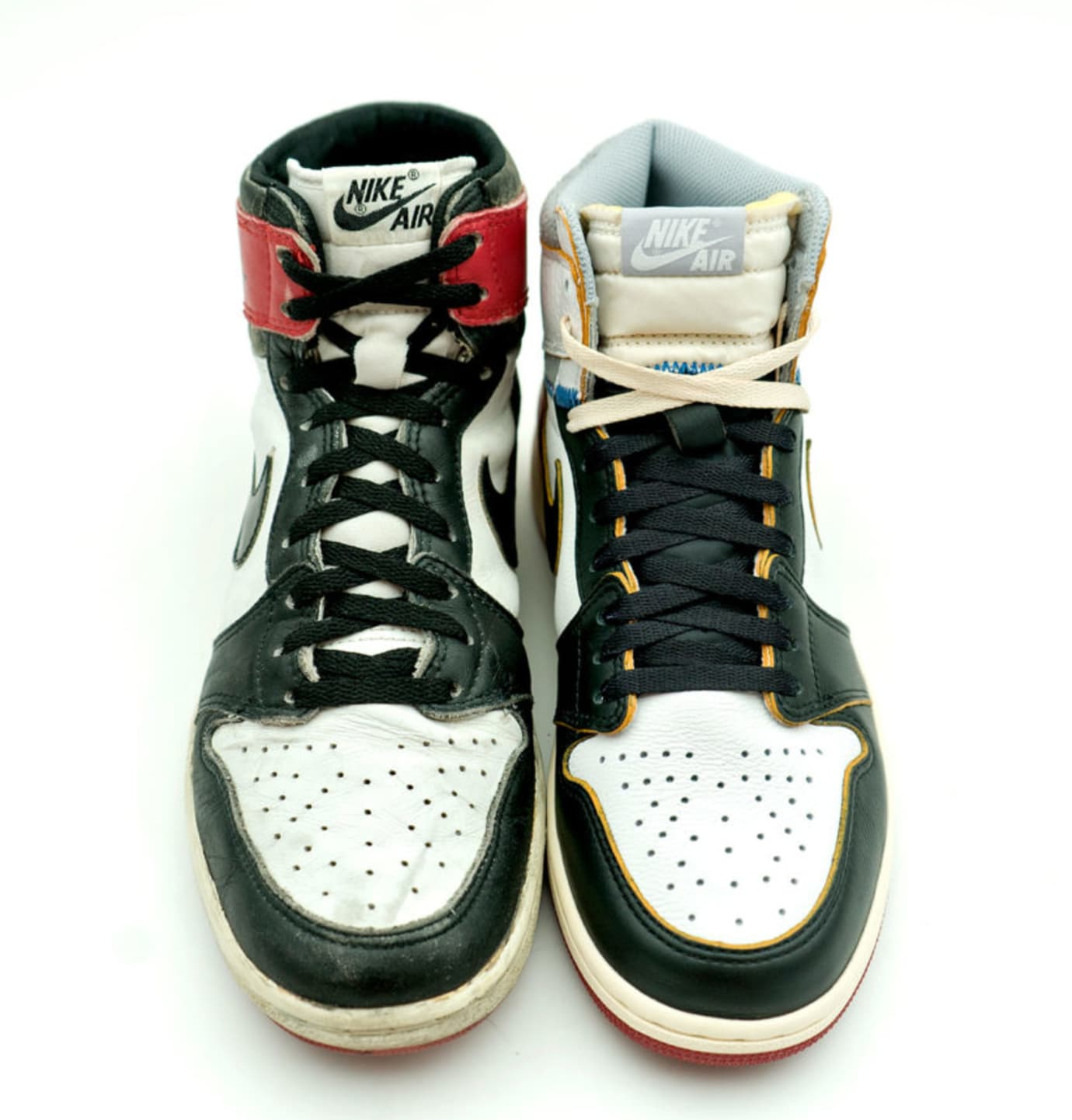 Union x Air Jordan 1 Comparison (vs. 'Black Toe')