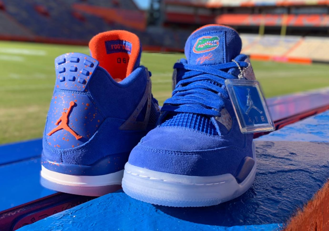 6175d160aab92 ... Air Jordan 4  Florida Gators  PE (Front and Heel)