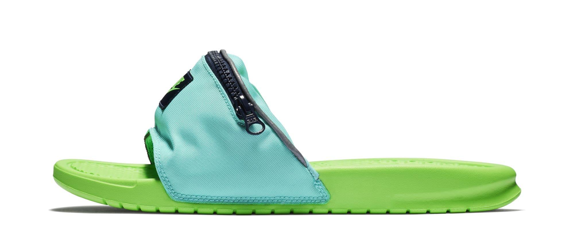 Nike Benassi JDI 'Fanny Pack' Green (Lateral)