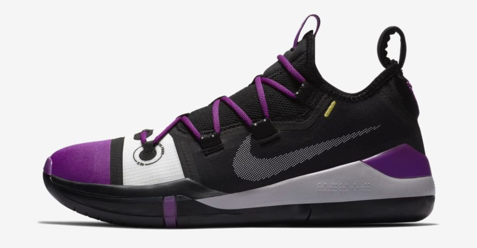 White And Purple Nike Basketball Shoes
