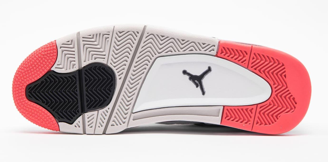 Air Jordan 4 Retro 'White/Black-Light Crimson-Pale Citron' 308497-115 (Bottom)