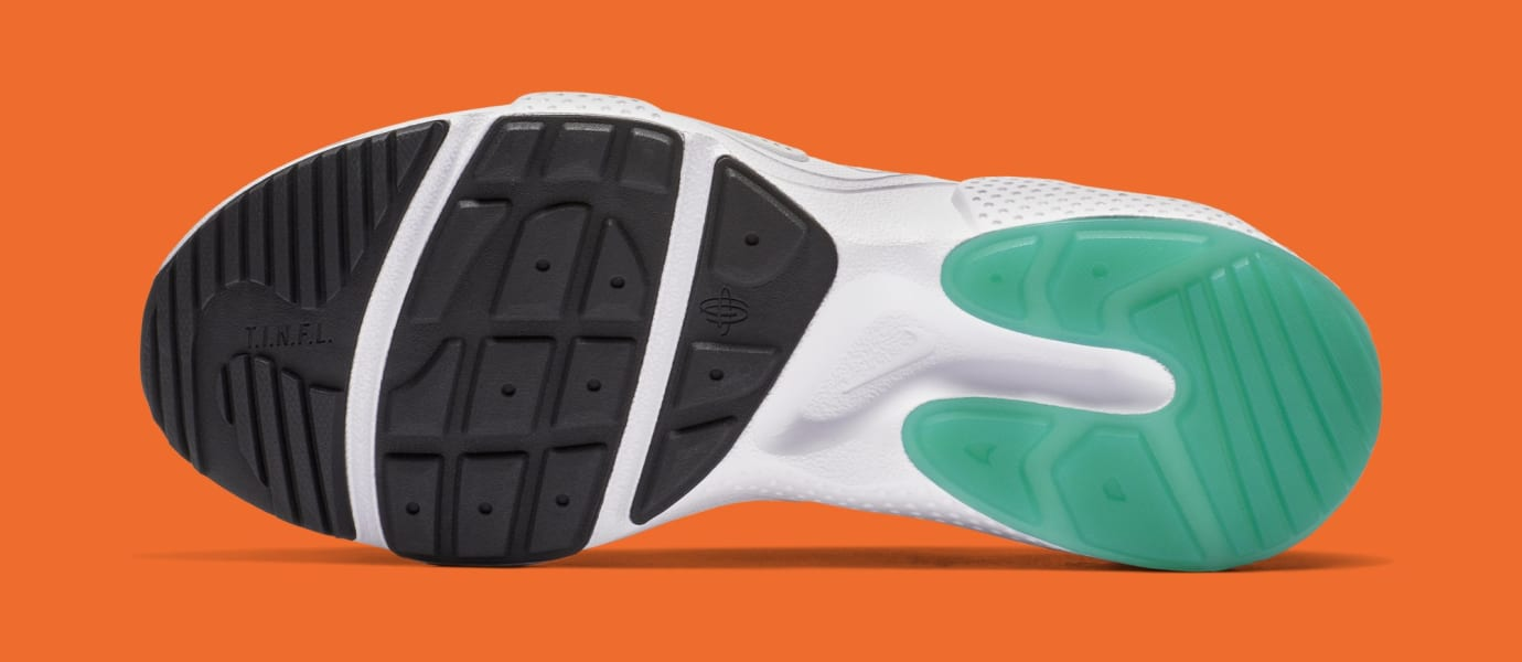 Nike Huarache E.D.G.E. TXT QS 'White/Clear Emerald/Total Orange' BQ5206-100 (Bottom)