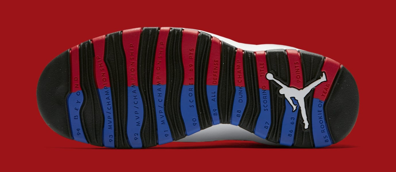 0a6ee57402e Image via Nike Air Jordan 10 Russell Westbrook  Class of 2006  310805-160  (Bottom)