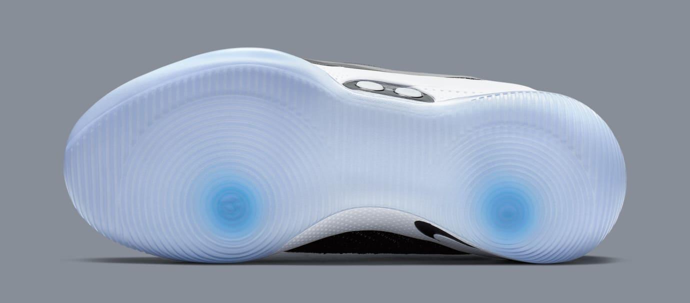 b0aee9fdd4e6 Image via Nike Nike Adapt BB  Black White Pure Platinum  AO2582-001 (Bottom