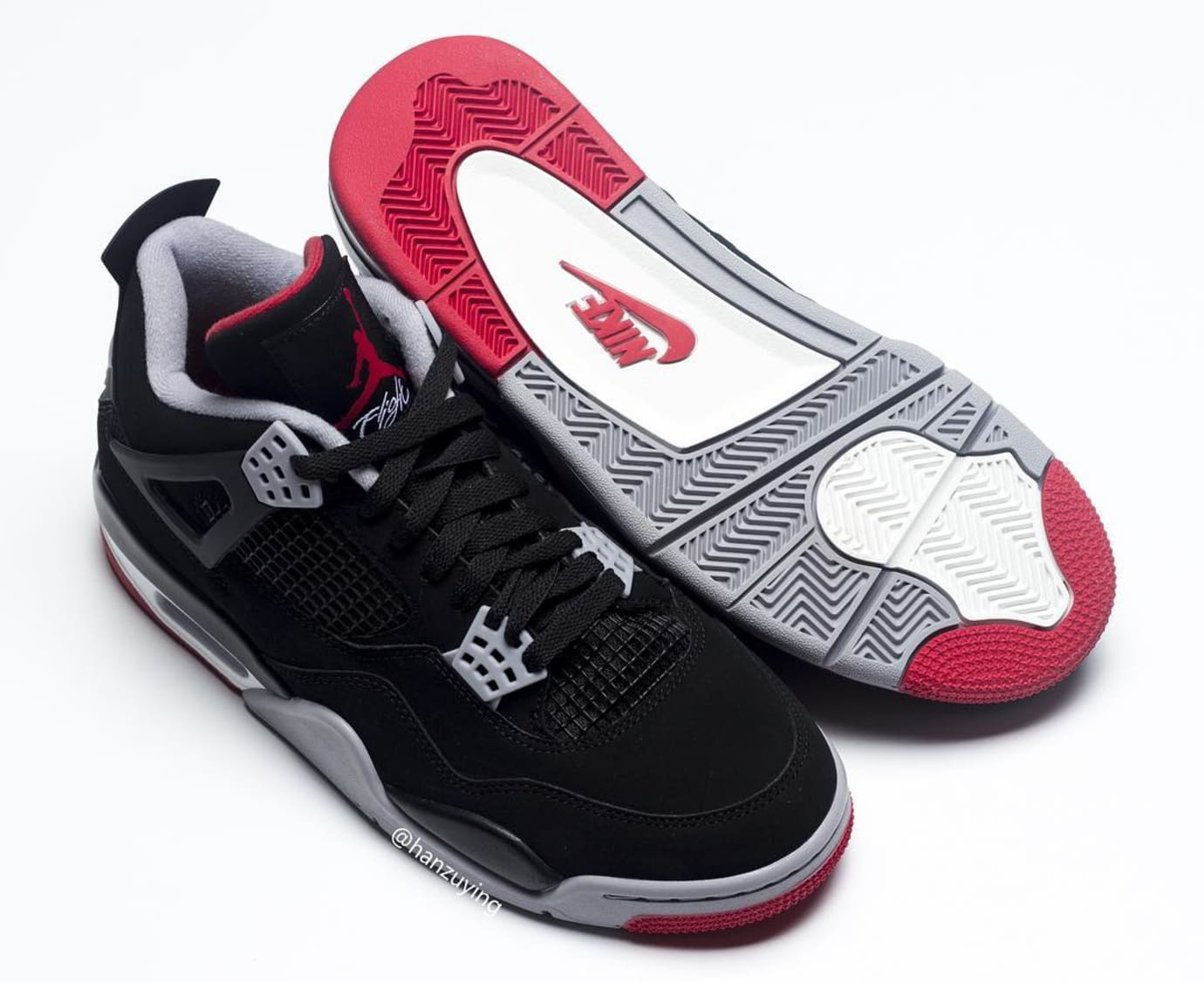 Air Jordan 4 Retro 'Bred' 2019 308497-060 Sole