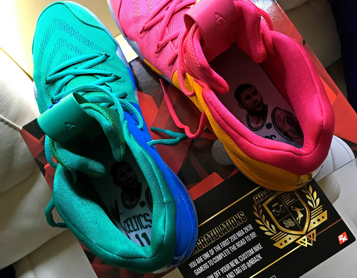 best sneakers 8b506 fa35e Nike Kyrie 4 'NBA 2K18' Limited to 200 Pairs | Sole Collector