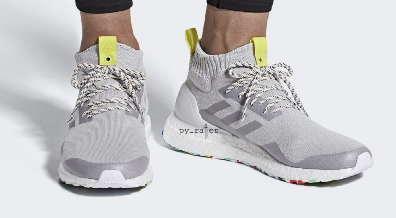 Adidas Ultra Boost Mid 'White/Multicolor' (On Feet)