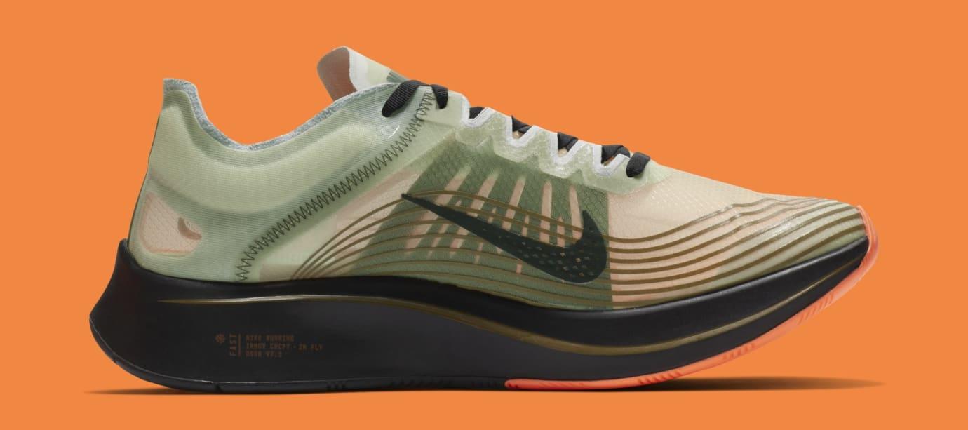 Nike Zoom Fly SP 'Medium Olive/Black' AJ9282-200 (Medial)