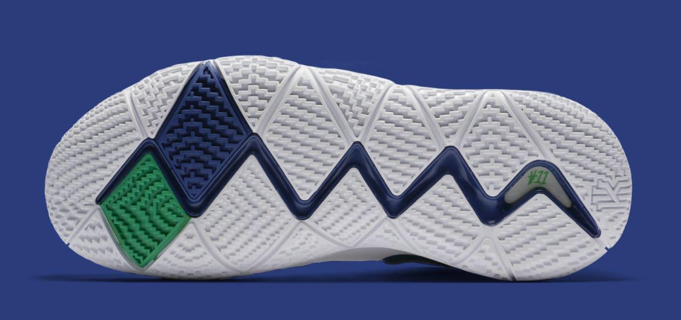 18c8d52d3dc9 Image via Nike Nike Kyrie 4  White Deep Royal Blue  943806-103 (Sole)