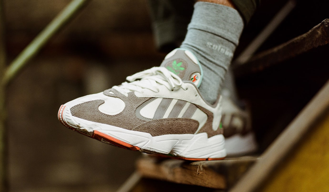 Solebox x Adidas Yung-1 (On-Foot Left)