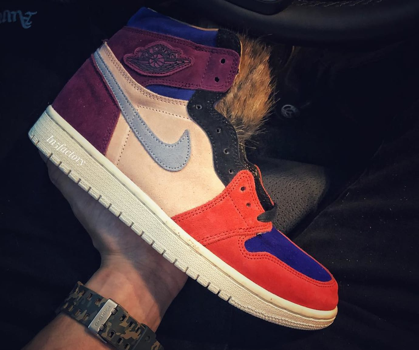 60bad59be631 Image via  ln5factory · Aleali May x Air Jordan 1  Viotech  (Lateral)