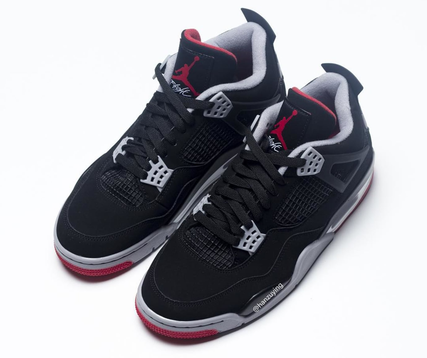 Air Jordan 4 Retro 'Bred' 2019 308497-060 Top View