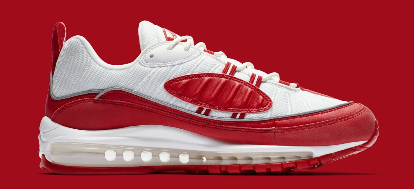 100bb2aa7 Image via Nike Nike Air Max 98 'University Red' 640744-602 (Medial)