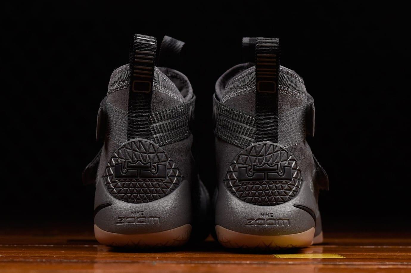 Nike LeBron Soldier 11 Grey Gum Release Date Heel 897646-003