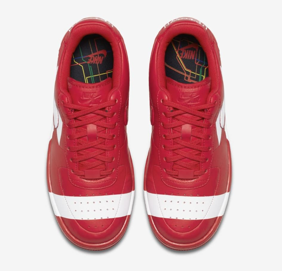 Nike Air Force 1 Upstep WMNS 'Red/White' (Top)
