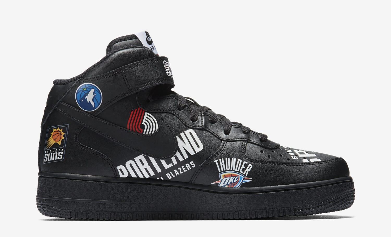 Supreme x NBA x Nike Air Force 1 Mid AQ8017-001 (Medial)