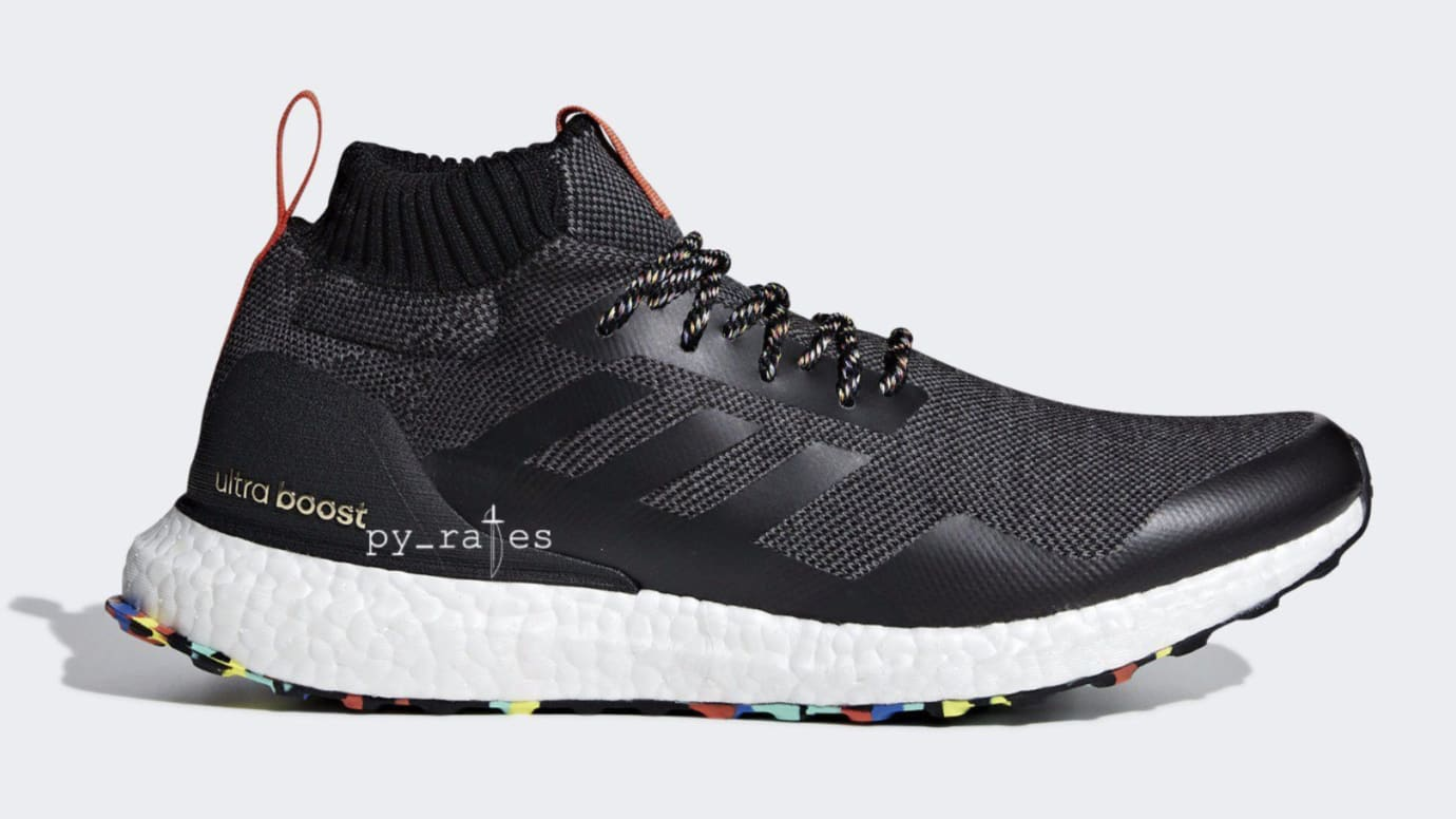 Adidas Ultra Boost Mid 'Black/Multicolor' (Lateral)
