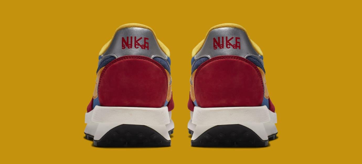 Sacai x Nike LDWaffle 'Varsity Blue/Del Sol/Varsity Red/Black' BV0073-400 (Heel)