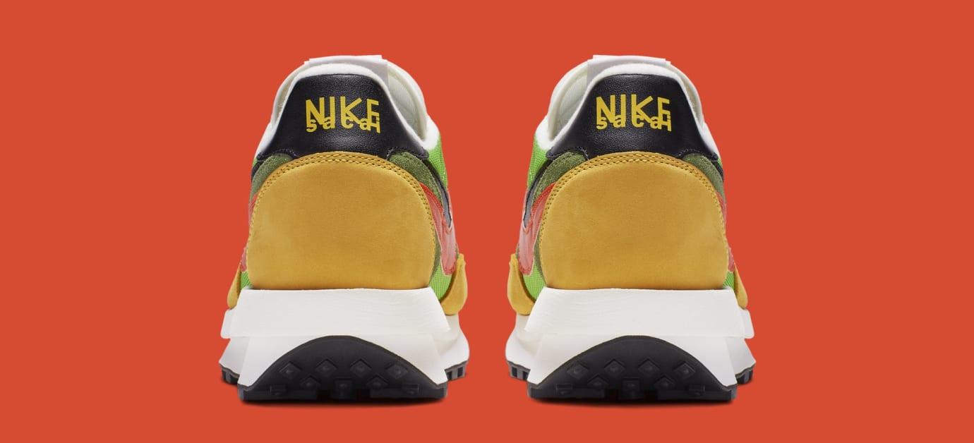 Sacai x Nike LDWaffle 'Green Gusto/Safety Orange/Black' BV0073-300 (Heel)