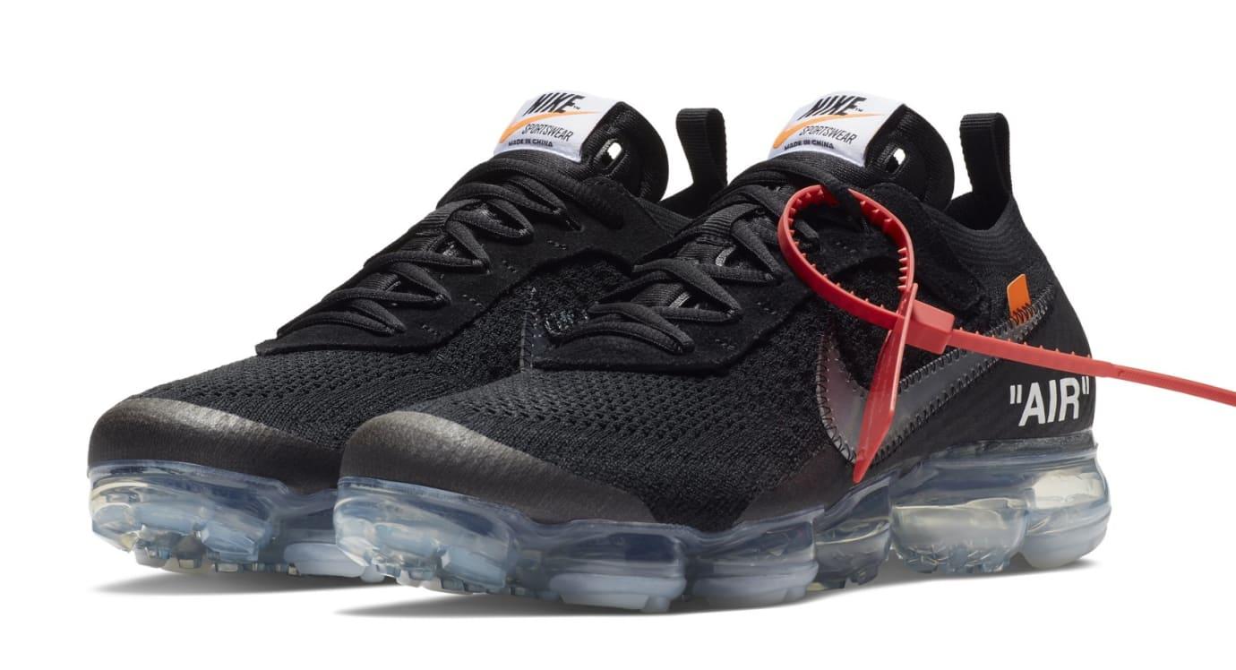 23a15b58607 Off-White x Nike Air VaporMax 'Black/Total Crimson/Clear' SNKRS ...
