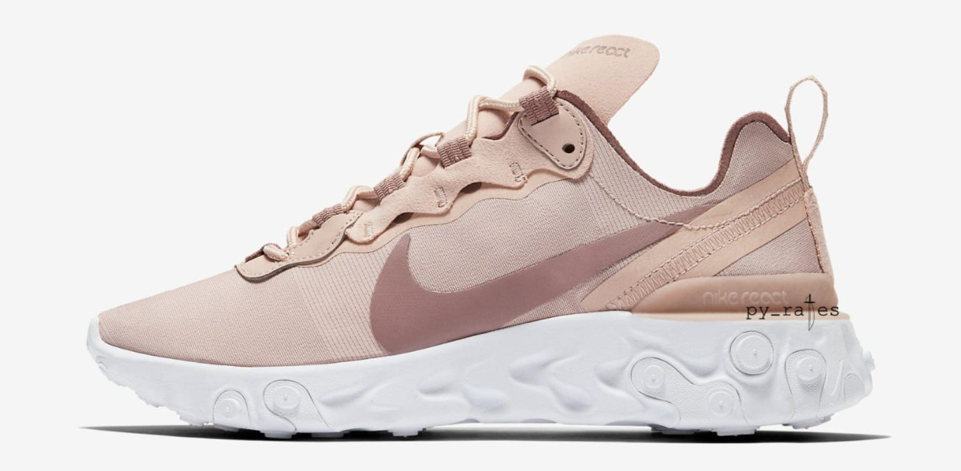 WMNS Nike React Element 55 'Particle Beige' (Lateral)